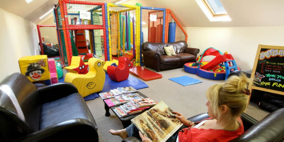 Clydey playroom and parents relaxation area