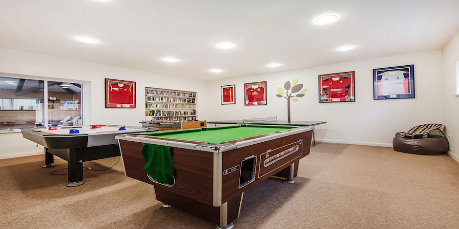 Fun for all the family in the games room