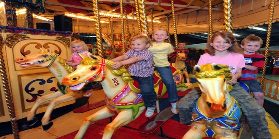 Indoor Fun Fair At Folly Farm – so many fantastic old rides
