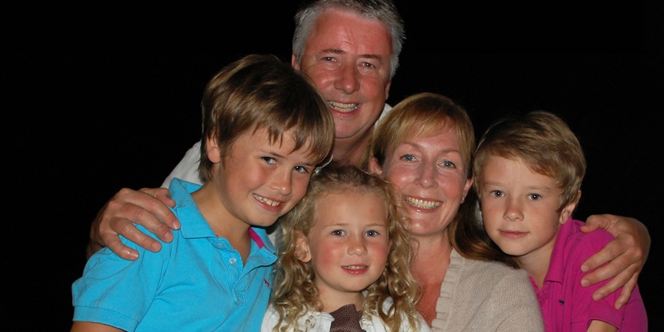 The Davies family on holiday – a rarity!!