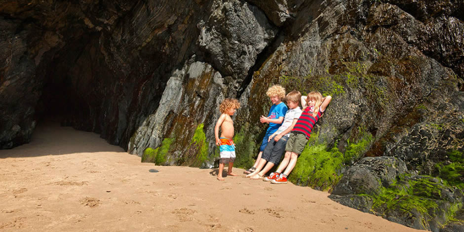 Llangranog Beach – great caves and body boarding