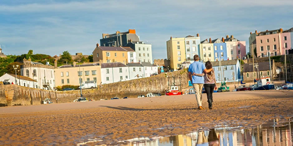 Tenby Harbour – lots of fantastic sandy beaches