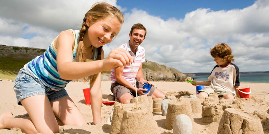 Golden sand – perfect for sand castles