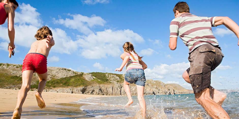 Beach Fun at Poppit Sands