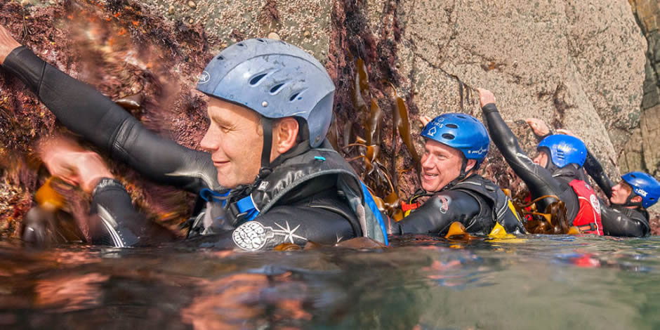 Try Coasteering – great fun !