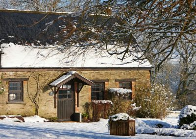 Tansy Cottage, beautiful in the Winter snow and sun
