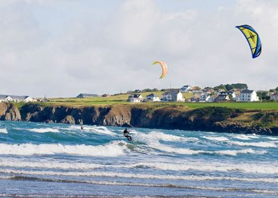 Kite Surfing at Poppit Sands