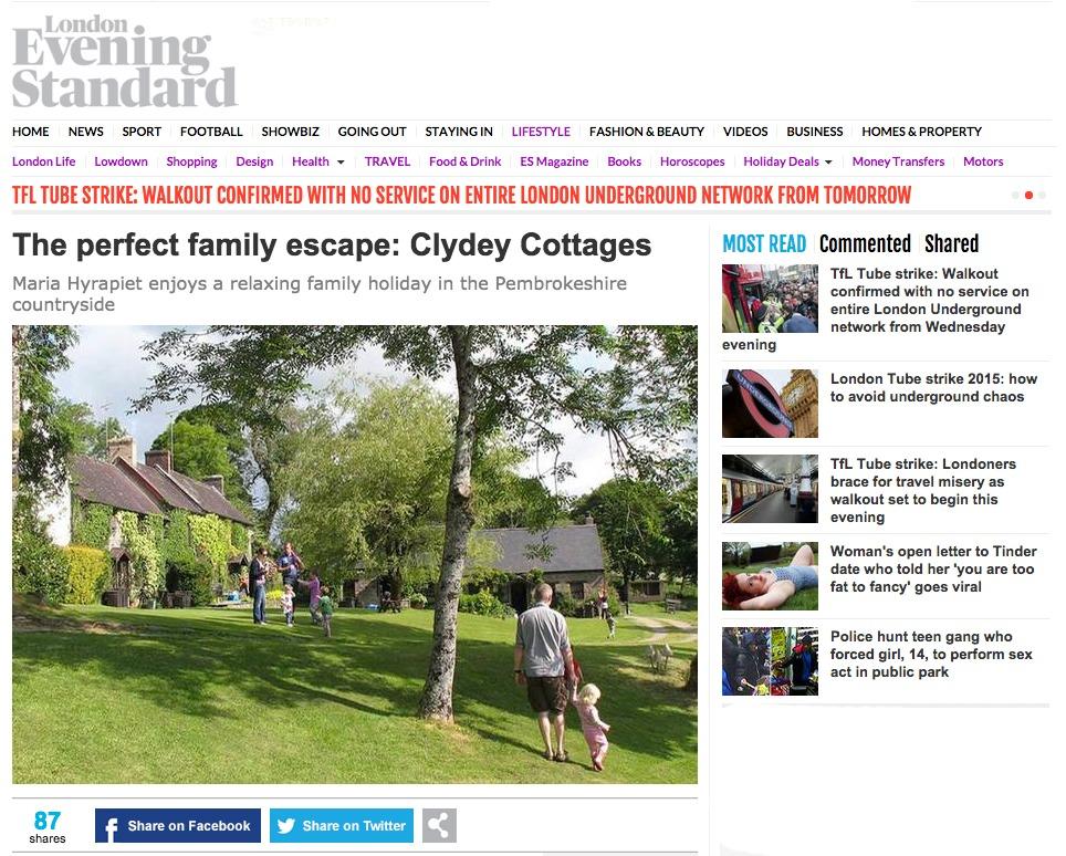 Evening Standard Feature July 2015