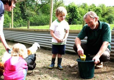 Farmer Malcolm Chicken Feeding